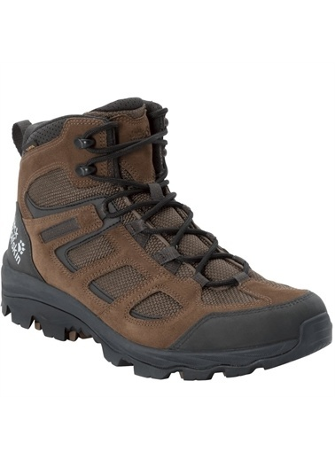 Jack Wolfskin Vojo 3 Texapore Mid Erkek Outdoor Bot Brown-Phantom Kahve